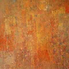 terre cuite et soleil 80 x 80 cm