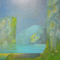 le lac - 100 x 70 cm