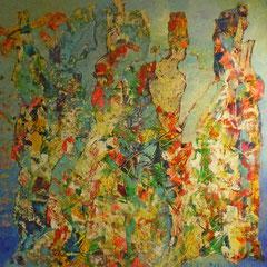 danse colorée 60 x 60