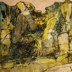 paysage japonais - 34 x 40 cm