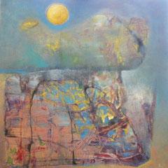 lettre au soleil - 86 x 86 cm