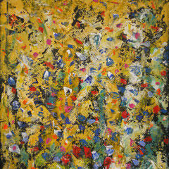 fleurs et miel - 59 x 80 cm