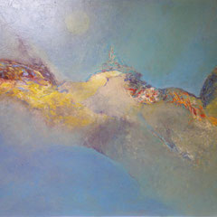 colline bleue - 110 x 89 cm