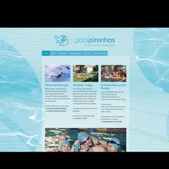 "Webseite ""Poolpiranhas"" (Jimdo-Baukastensystem)"