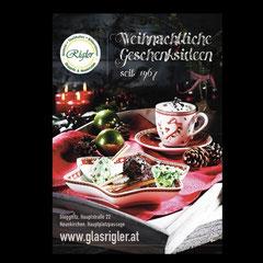 """Großplakat 8-Bogen """"Rigler Glas"""""""