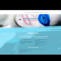"""Webseite """"Schwimmwölfchen"""" (Jimdo-Baukastensystem)"""