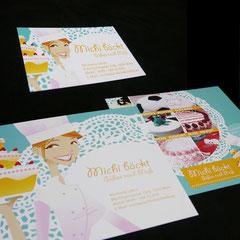 """Visitenkarte und Flyer """"Michi bäckt"""""""