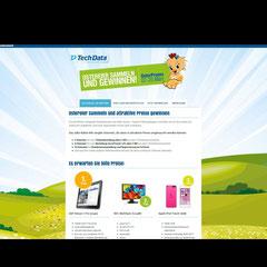 """Webseite """"Kiki"""" - Promotion-Webseite für Tech Data Österreich (Jimdo-Baukastensystem)"""