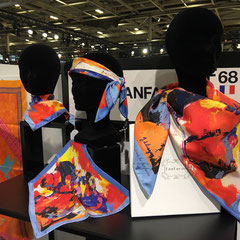 fanfaron, foulard, soie, made in france, salon mode, whos next, wsn2019