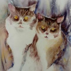 Chatons (aquarelle)