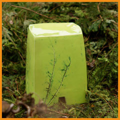 Gartenhocker grasgrün, Hocker, Keramik, Beate Seckauer, Neuzeughammer Keramik