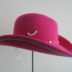 Trachten Cowboyhut pink