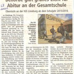 Lüneburger Landeszeitung 17.April 2013