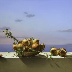 """""""The Fruit of Life"""" - olio su tela cm 100 x 150 anno 2017"""