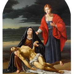 """""""Il compianto"""" - olio su tela cm 304 x 206 anno 2009"""