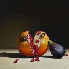"""""""Approcci"""" olio su tavola cm 28 x 38 anno 2014"""