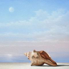 """""""Canto alla luna"""" - olio su tela cm 30 x 40 anno 2011"""
