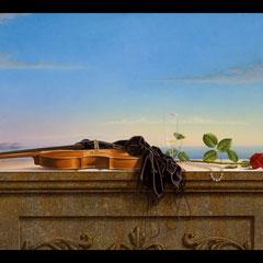 """""""Estate di passione"""" - olio su tela cm 80 x 140 anno 2007"""