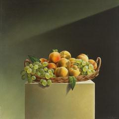 """Natura in posa"" - olio su tela cm 70 x 70 anno 2004"