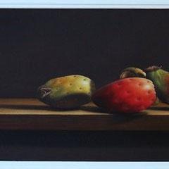 """""""Figli della terra"""" - olio su tela cm 25 x 80 anno 2006"""