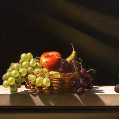 """Sul calar del sole"" olio su tela cm 50 x 70 anno 2014"