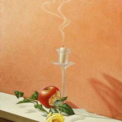 Passioni consumate- olio su tela cm 50 x 40 anno 2002
