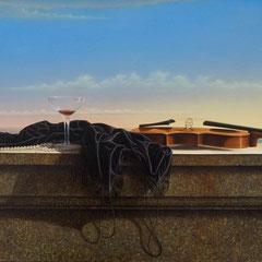 """Storie dei nostri mari"" - olio su tela 72x188 anno 2006"