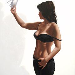 """""""Vanitas - Specchio, specchio..."""" - olio su tela cm 120 x 100 anno 2006"""