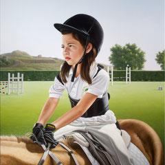 """""""Sharon"""" - olio su tela  cm 100 x 80 anno 2011"""