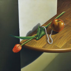 Accattivanti prospettive - olio su tela cm 45 x 50 anno 2005