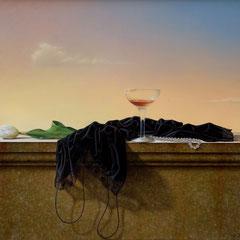 L'alba di un incontro - olio su tela cm 60 x 70 anno 2007