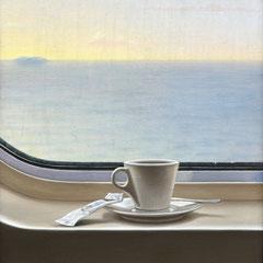 """""""Il viaggio"""" - olio su tela cm 40 x 30 anno 2009"""