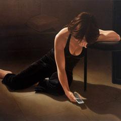 """""""Chiamami, chiamami, chiamami...""""  - olio su tela cm 100 x 130 anno 2005"""