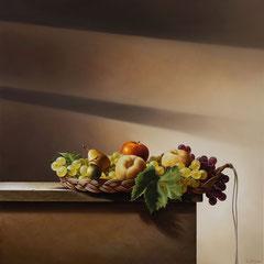 """""""Legami"""" - olio su tela cm  80 x 80 anno 2009"""