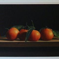 Figli della terra - olio su tela cm 25 x 80 anno 2006
