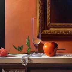 """""""Il sapore di un attimo"""" - olio su tela cm 35 x 45 anno 2008"""