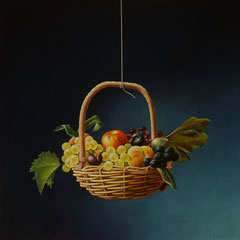 """""""Come color che son sospesi"""" - olio su tela cm 70 x 70 anno 2001"""
