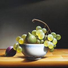 """In bilico"" - olio su tela cm 40 x 30 anno 2010"