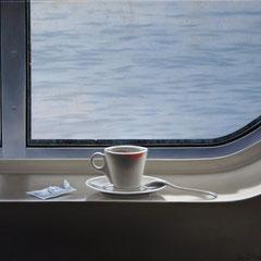 """""""Il viaggio - Istanti di piacere"""" - olio su tela cm 45 x 50 2009"""