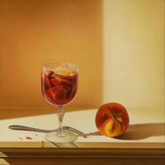 """""""No sangria, thank you."""" - olio su tela cm 40 x 40 anno 2013"""