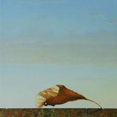 E ancora l'orizzonte- olio su tavola - cm 107 x 38 anno 2007