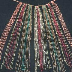 Quipu Inca (donde se anotaban los resultados obtenidos con la Yupana, o cualquier otra cifra numérica, un resultado o cifra en cada cordón, mediante nudos)