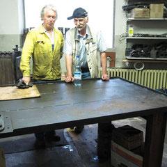 Wolfgang und Sepp nach getaner Arbeit