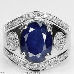 сапфировое кольцо из серебра,сапфир в серебре,серебряное кольцо с сапфиром
