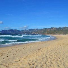 Der 11Km lange Strand von Gonnesa