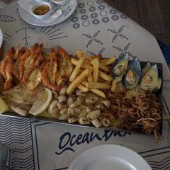 unser Mittagessen - Seafood Platter