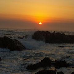 mit Sonnenuntergang