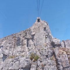 eindrücklich - der Blick zur Bergstation