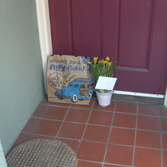 The welcome home gift that was waiting at the door