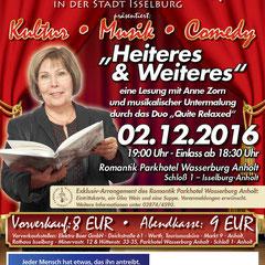 """""""Heiteres und Weiteres"""" - Lesung in der Wasserburg Anholt"""